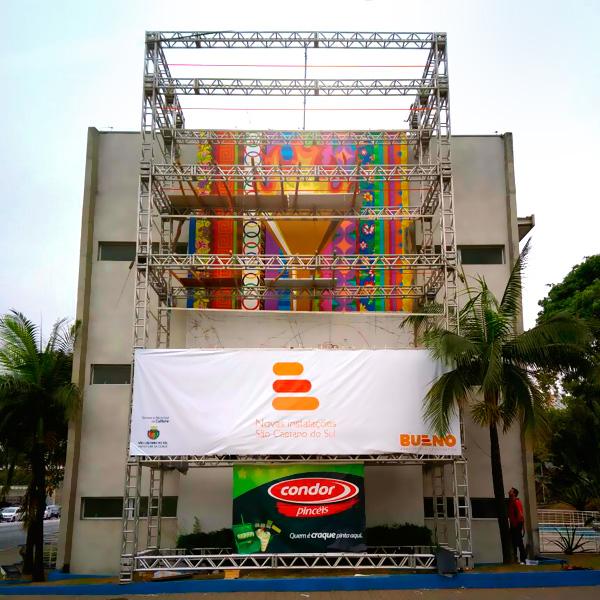Parceria de Aleksandro Reis e Ricardo Bueno resulta em cor, imagem e arte para as ruas de São Caetano do Sul