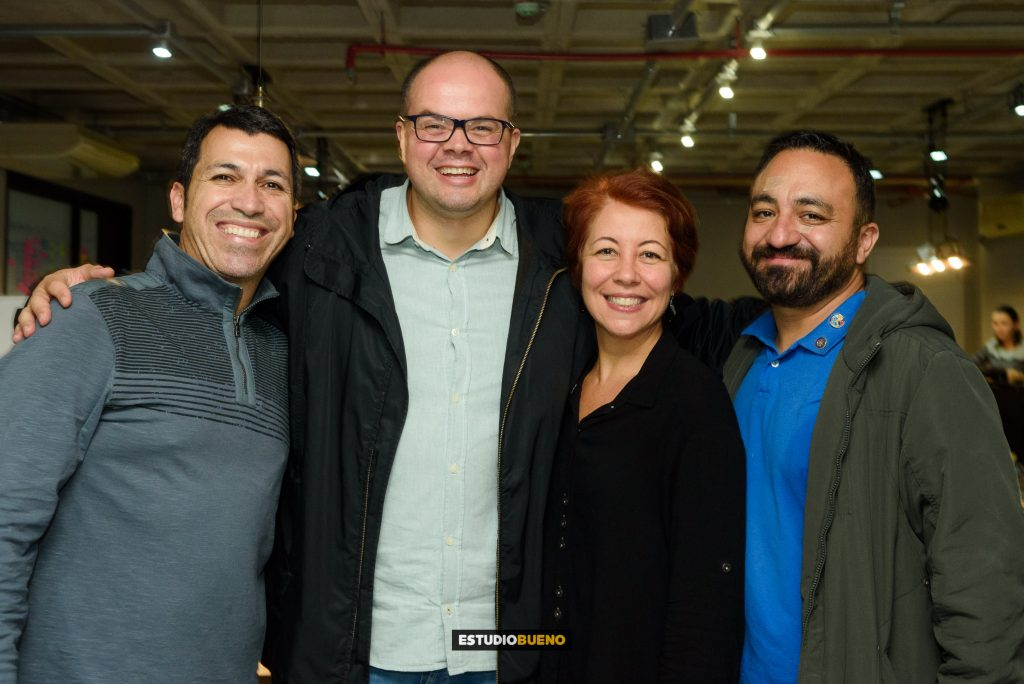 Ricardo Bueno, André Boaventura, Leila Bueno e Renato Bueno